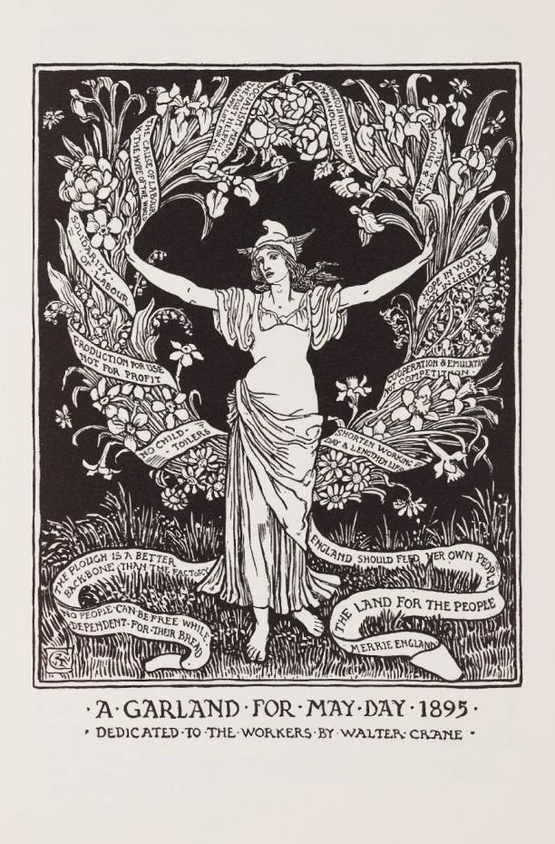 'A Garland for May Day 1895' by Walter Crane