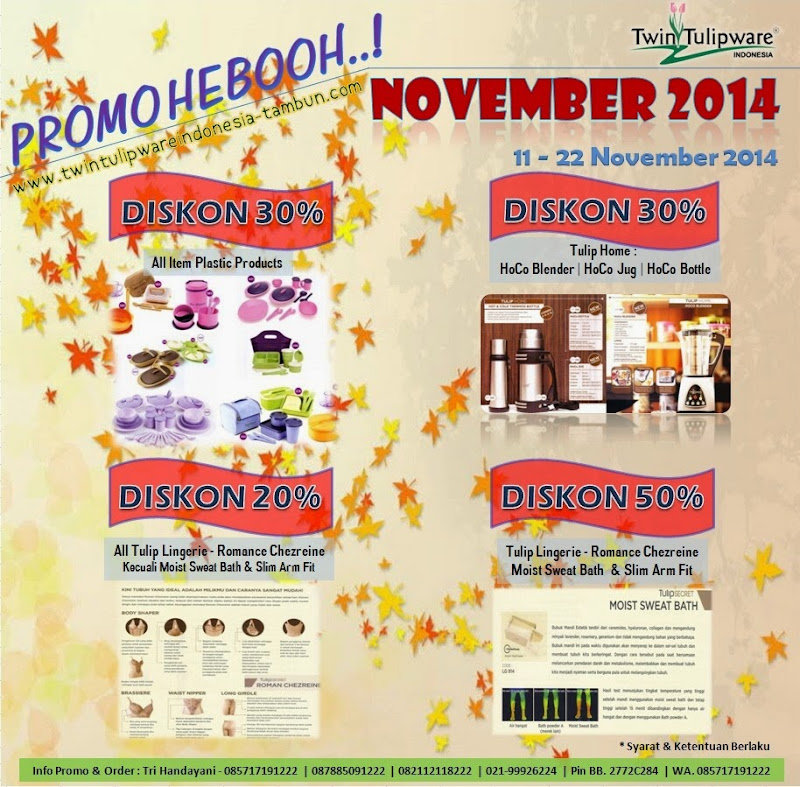 Promo Heboh Tulipware November 2014