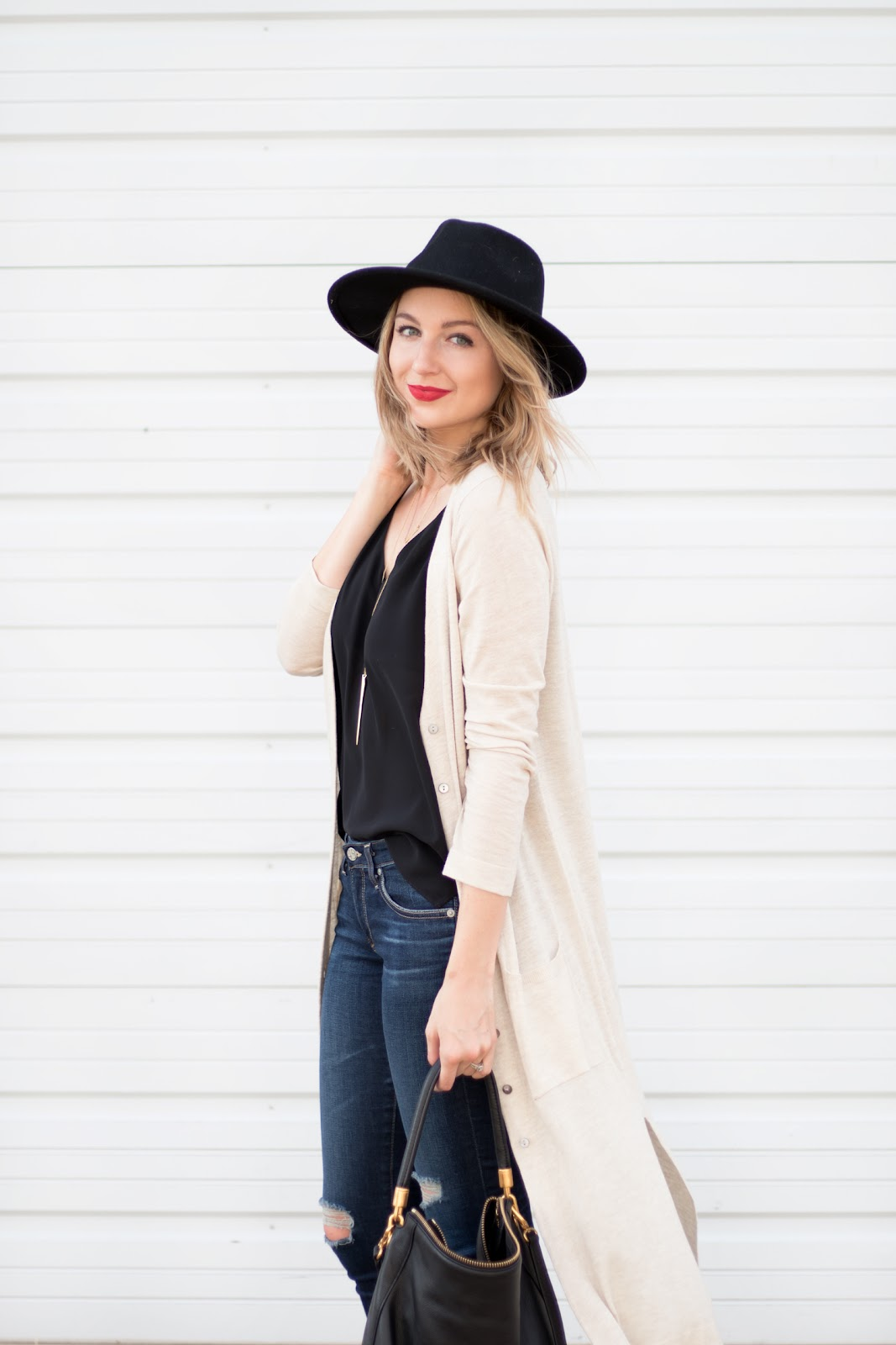 Long cardigan for fall