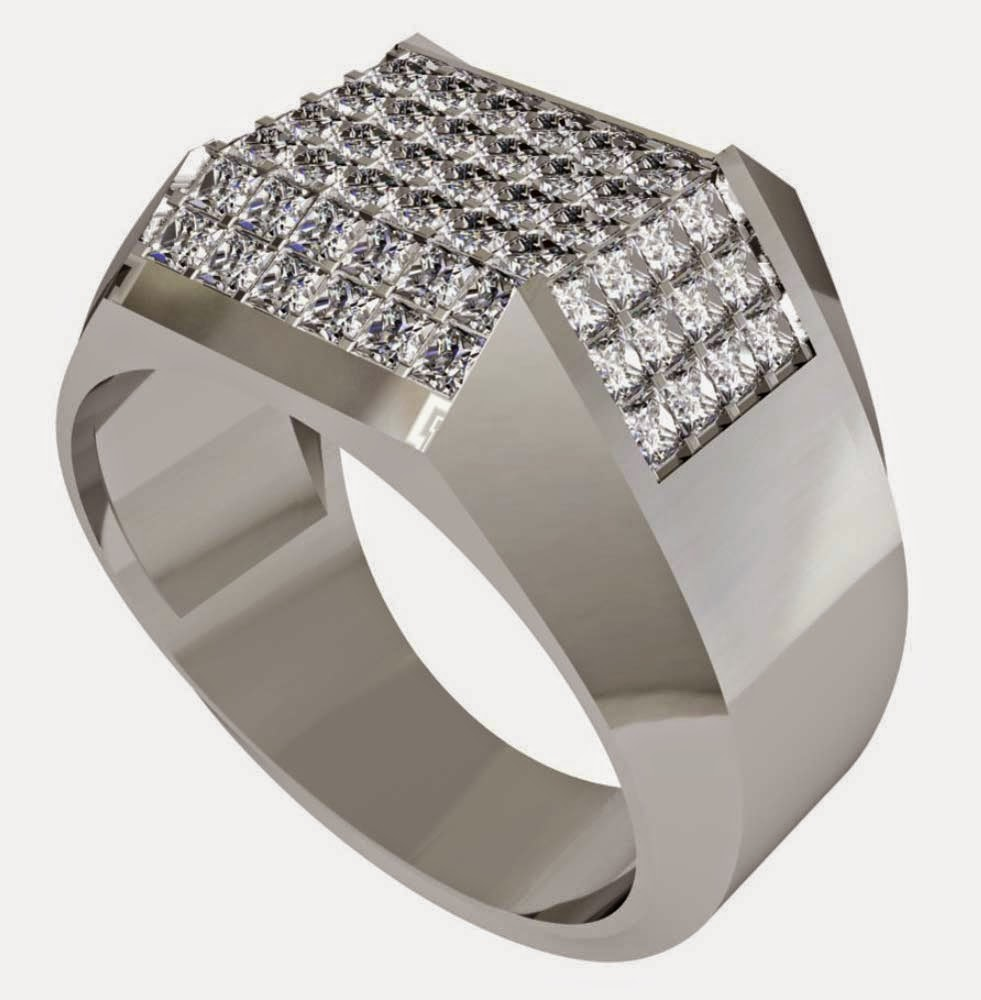 Mens Princess Cut Diamond Wedding Rings Design pictures hd