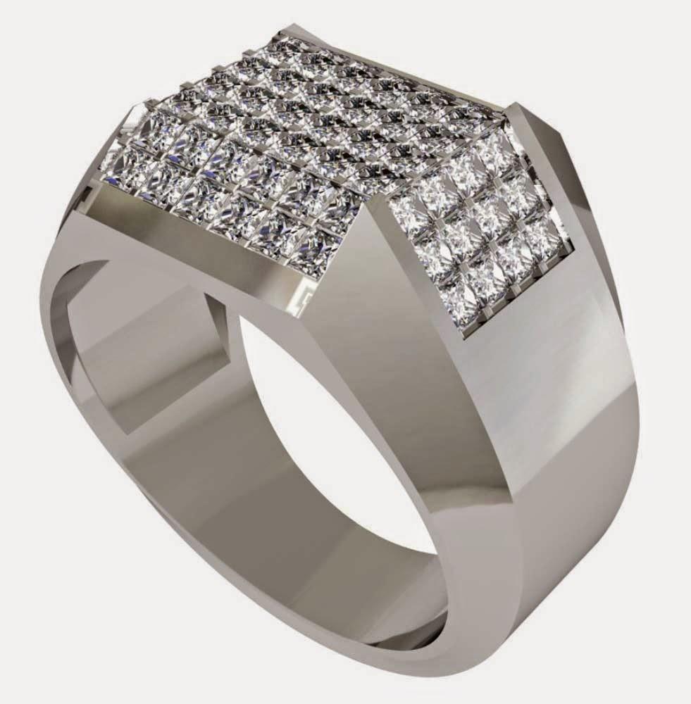 Mens Princess Cut Diamond Wedding Rings Design