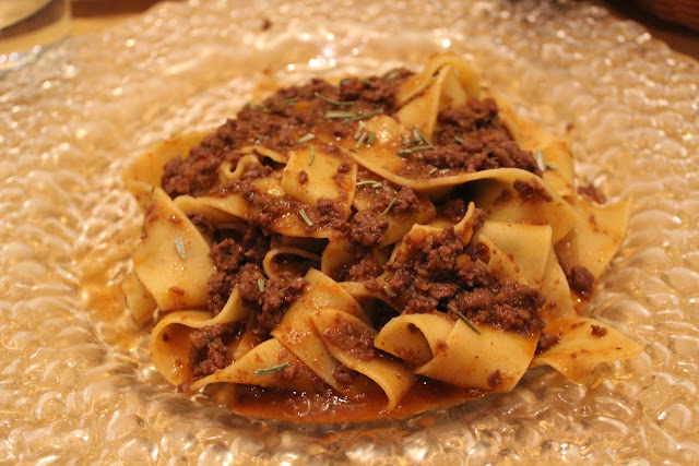Tagliatelle with wild boar ragu