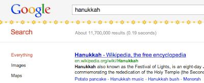 Google Hanukkah Jewish Stars