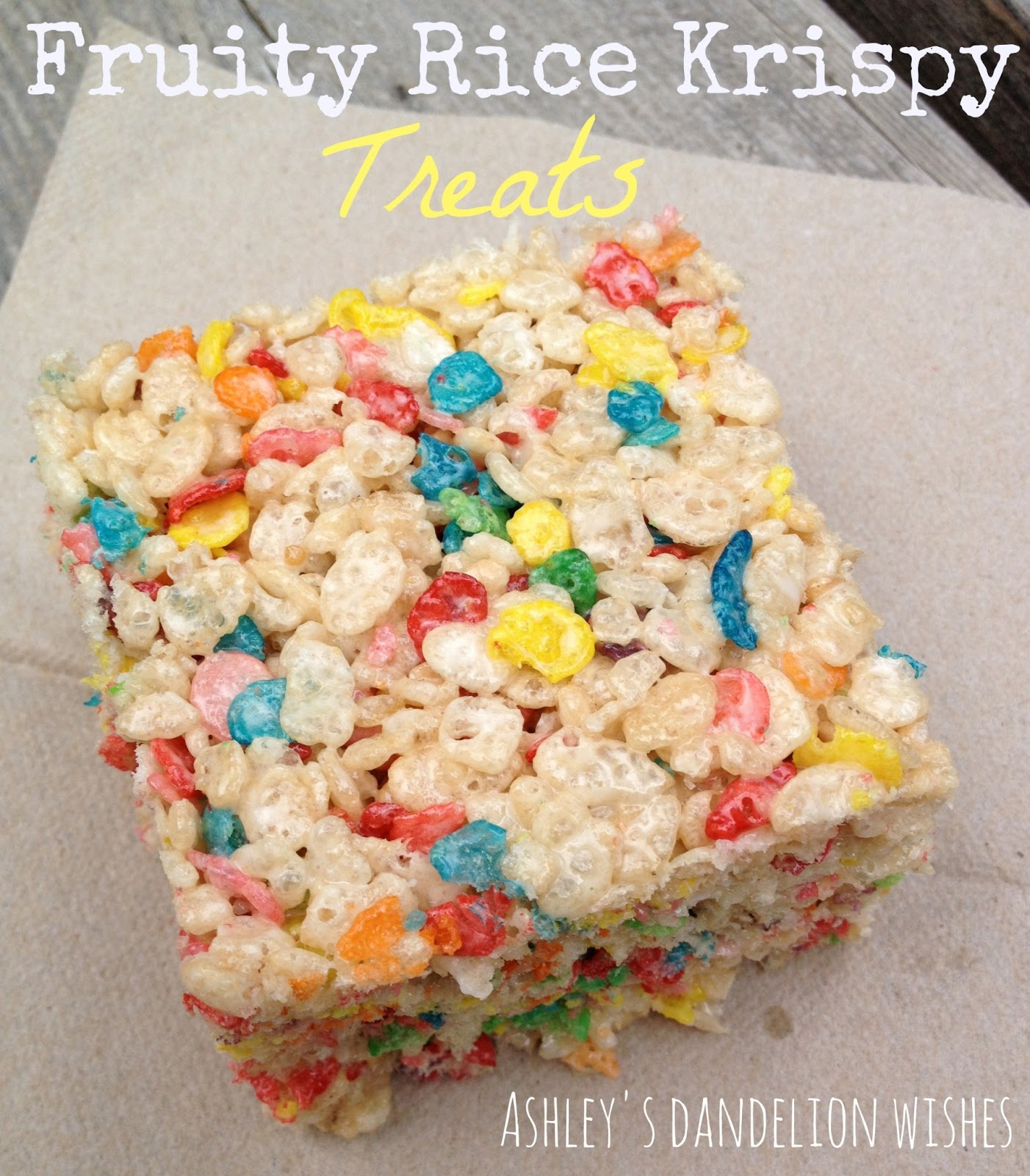 Brown Butter Fruity Pebble Rice Krispy Treats Recipes — Dishmaps