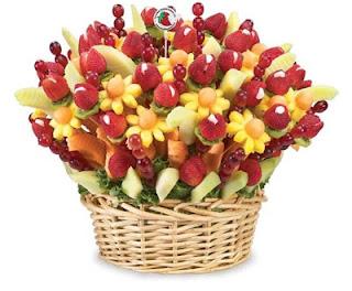 Bouquet de flores de fruta
