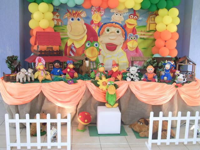 festa de aniversário com o tema Cocoricó na Barra da Tijuca RJ - decoração infantil