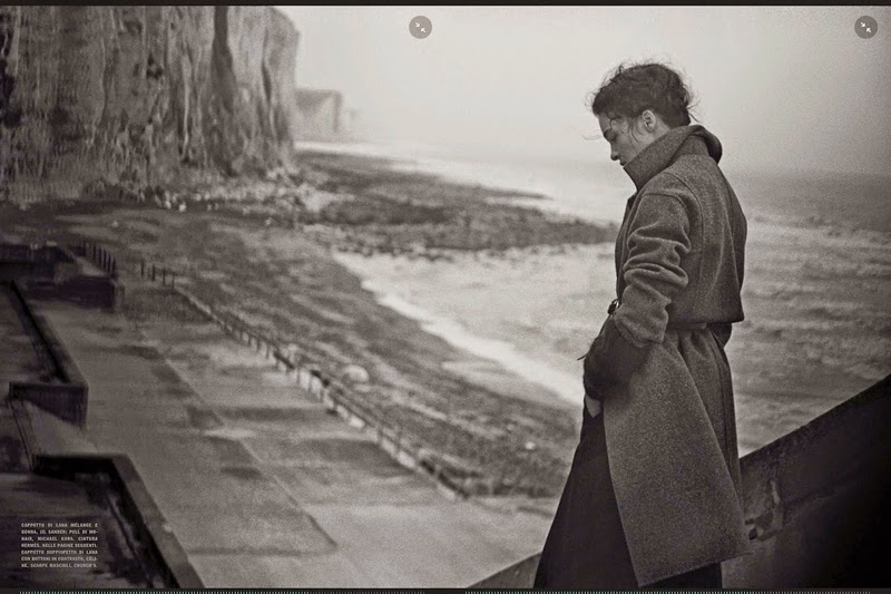 Mariacarla Boscono by Peter Lindbergh Vogue Italia September 2014