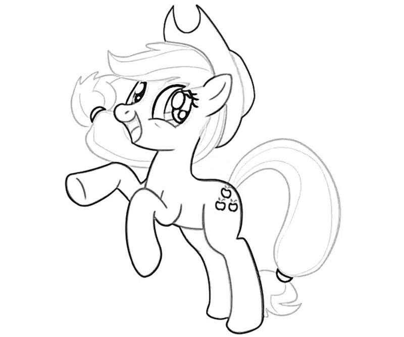 #12 My Little Pony Applejack Coloring Page