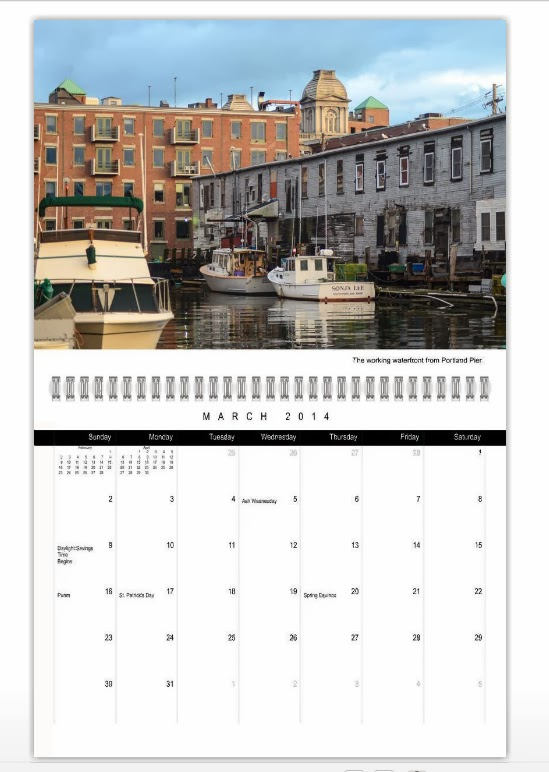 Portland, Maine March 2014 Calendar photo by Corey Templeton