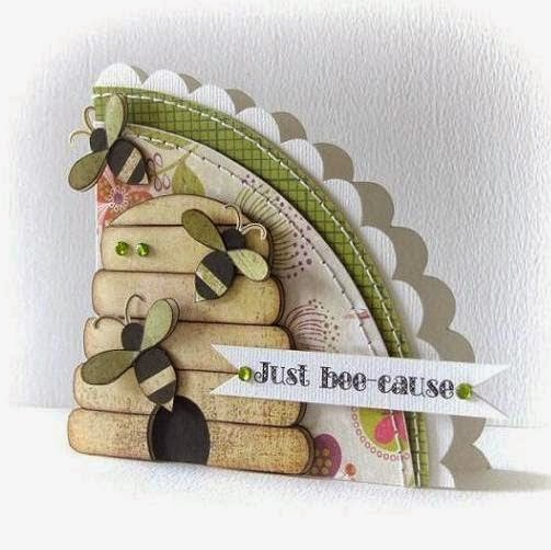 handmade bee card