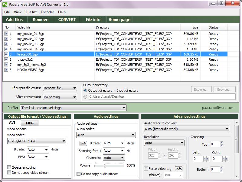 تحميل برنامج تحويل الفيديو للاندرويد وجميع الهواتف, Pazera Free 3GP to AVI Converter
