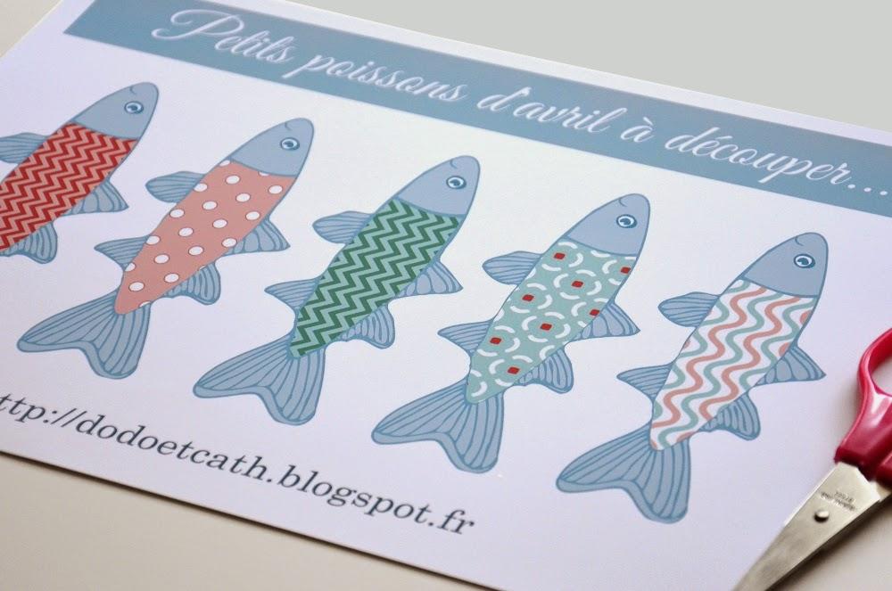 dodo et cath deux copines et leurs petits papiers printable poissons d 39 avril. Black Bedroom Furniture Sets. Home Design Ideas