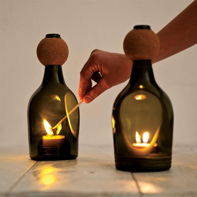 Dcorandobyalba vidrio reciclado - Botellas con velas ...
