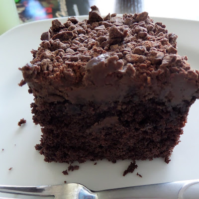 Special Dark Mocha Chip Cake:  A moist dark chocolate cake with a creamy mocha frosting topped with chopped chocolate chips.