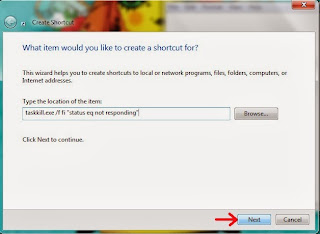 create shortcut for tasskill.exe