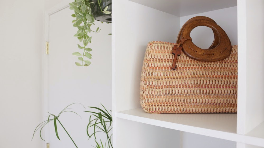 Woven Fossil Purse
