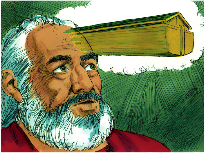 """Noah building the ark"" - Free Bible Illustrations"