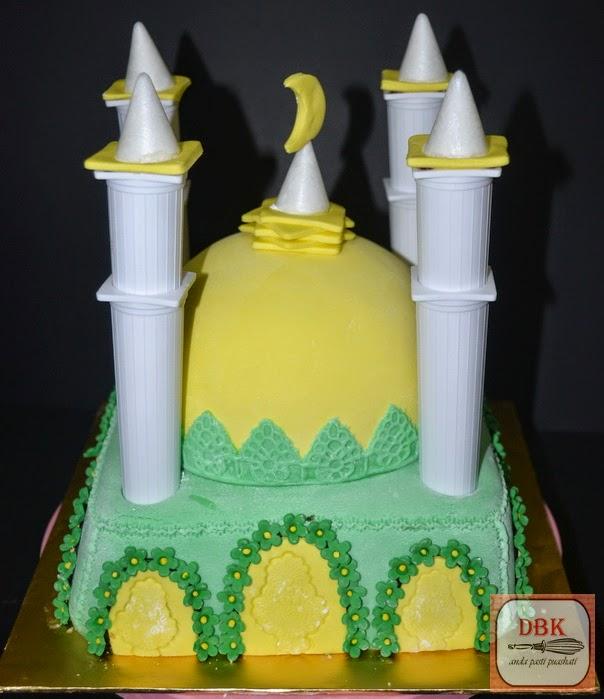 Kek Fondant Masjid