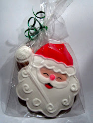Galleta con figura de Pap Noel