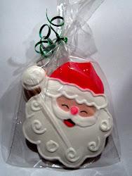 Galleta con figura de Papá Noel