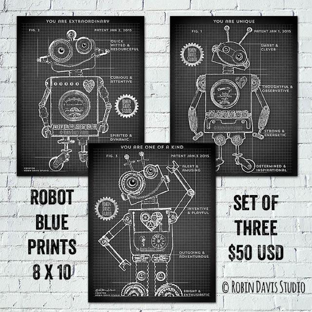 Robot Blueprints - Robin Davis Studio