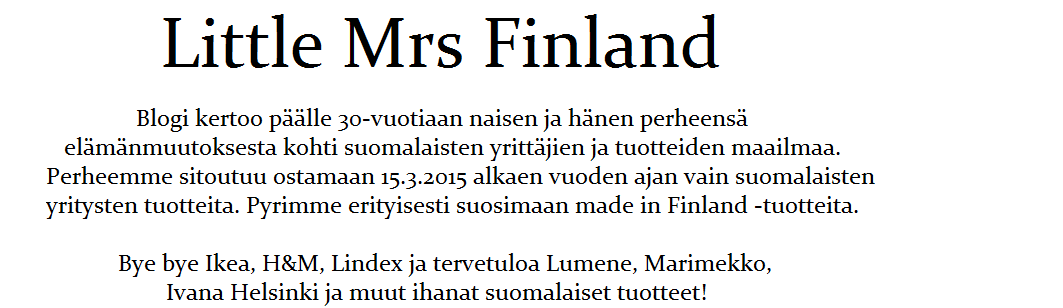 Little mrs Finland