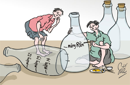 Tranh biếm họa về những người hay say xỉn