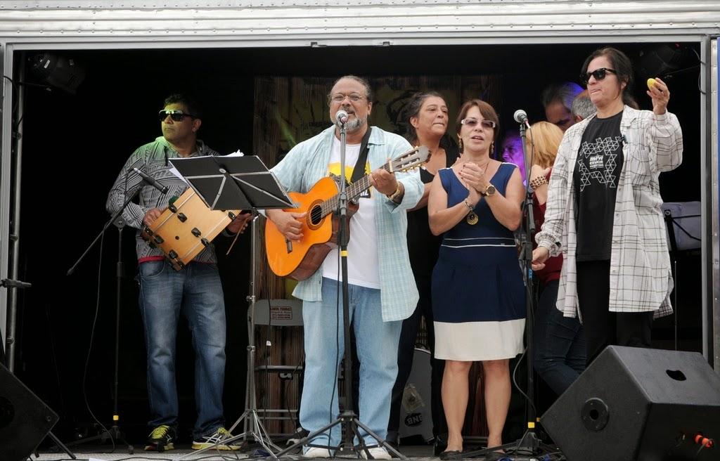 Fernando Mello, Írio Lima, Andréa Sant'Anna, Tânia Mara e Nara Zeitune no encerramento do evento