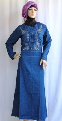 Gamis Jeans Fashion Bordir GJ1089-1