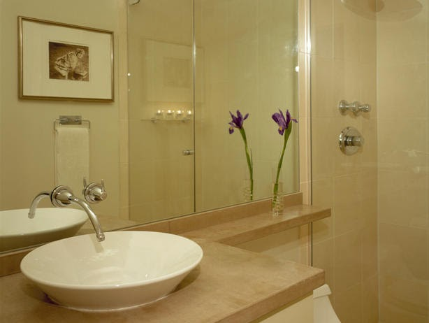 Modern furniture small bathroom design ideas 2012 from hgtv for Bathroom decor for small bathrooms