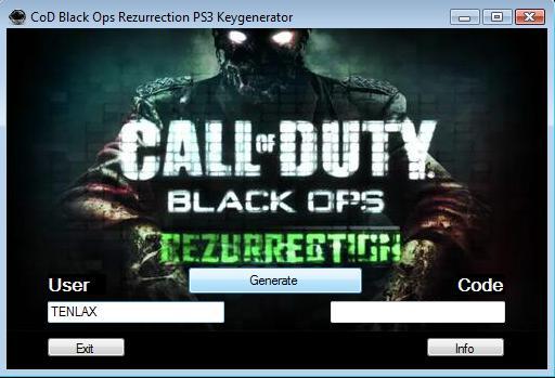 Call of Duty Rezurrection keygen for PS3: 2011