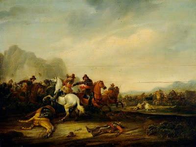 Abraham Van der Hoeff - A Cavalry Skirmish