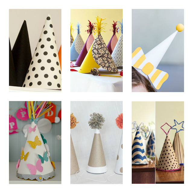 DIY PARTY HATS / DIY GORROS DE FIESTA