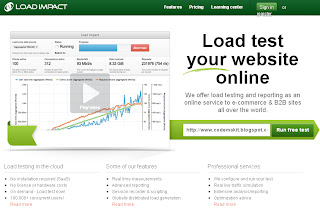 Load test your website online