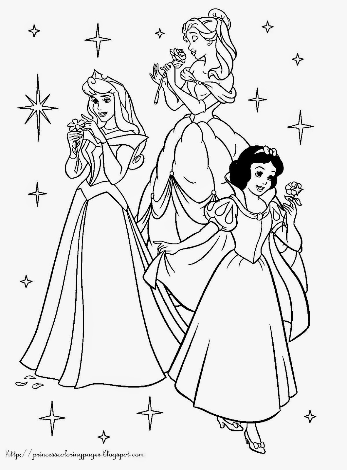 easy princess coloring pages - photo#14