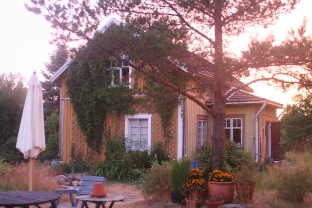 Ville's parents' summer house in the evening