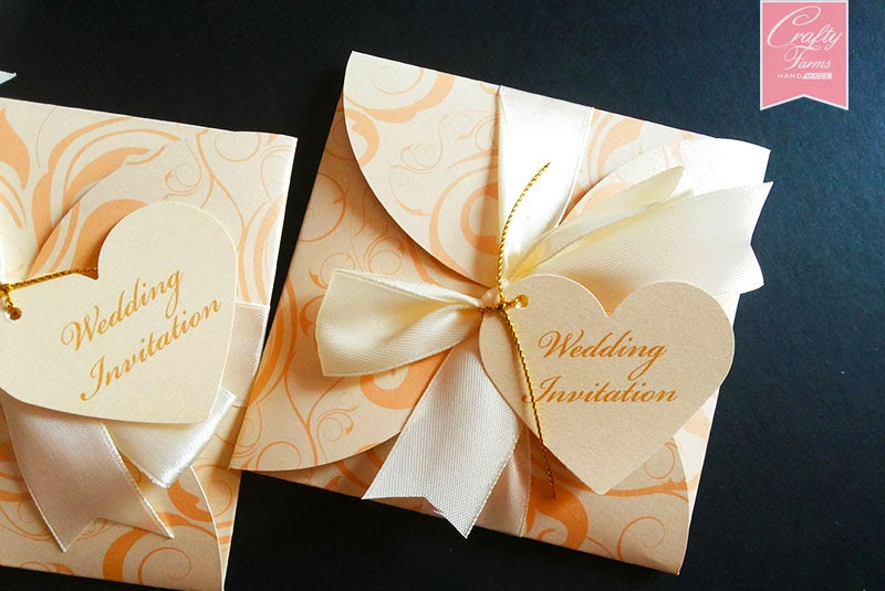 Japanese Water Wedding Invitation With Petal Enclosure ...