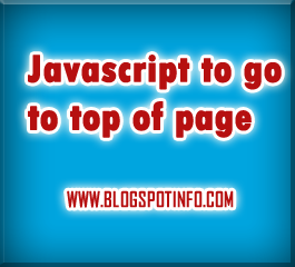 Free Javascript code for move to top of the page.