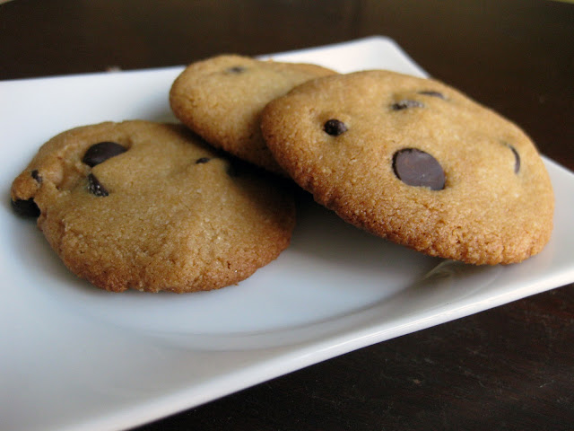 A picture of cookies made with the best paleo chocolate chip cookie recipe.