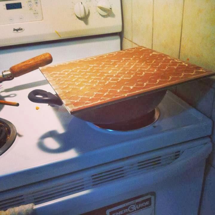 Juggaar Hack Your Life Ceramic Tile As Pan Cover