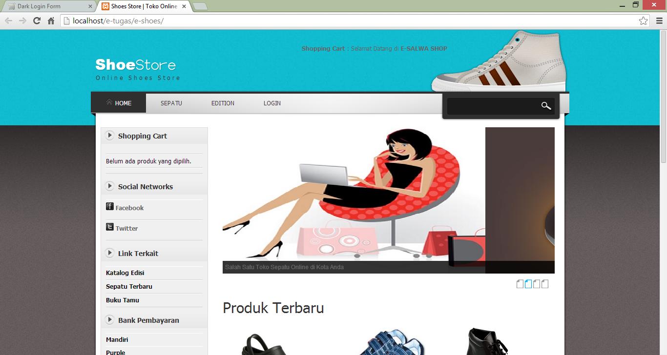 Contoh Aplikasi E-Commerce Berbasis Web (Tugas E-Bussines)