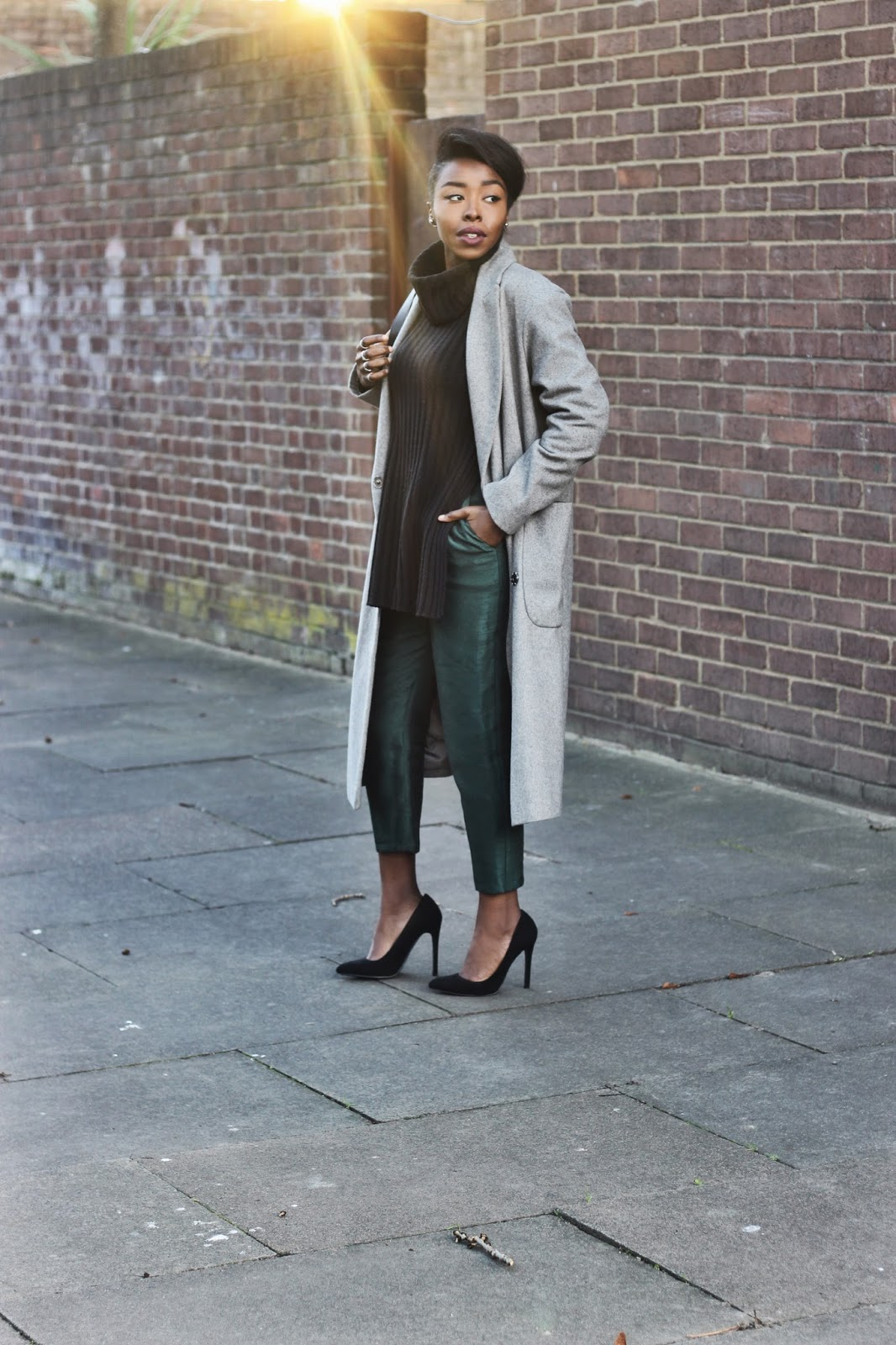 ASOS oversized grey wool blend coat
