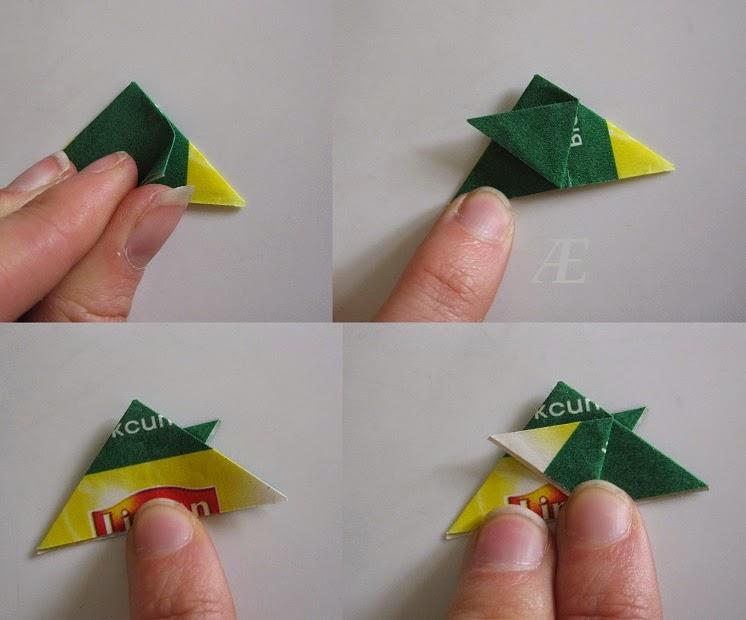 DIY - origami stjerrne af tebreve