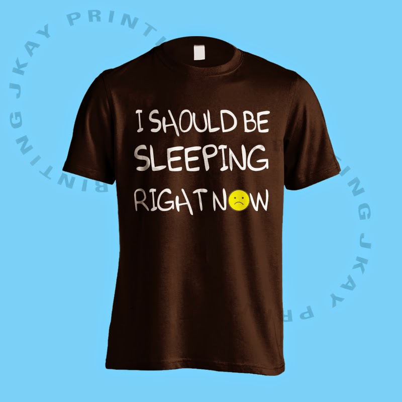 I Should Be Sleeping Right Now - Black Tshirt