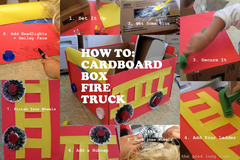 how to make a fire truck out of a box 2