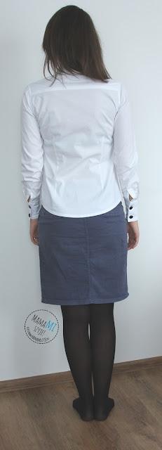 koszula karczek kołnierzyk guziki szycie mamami