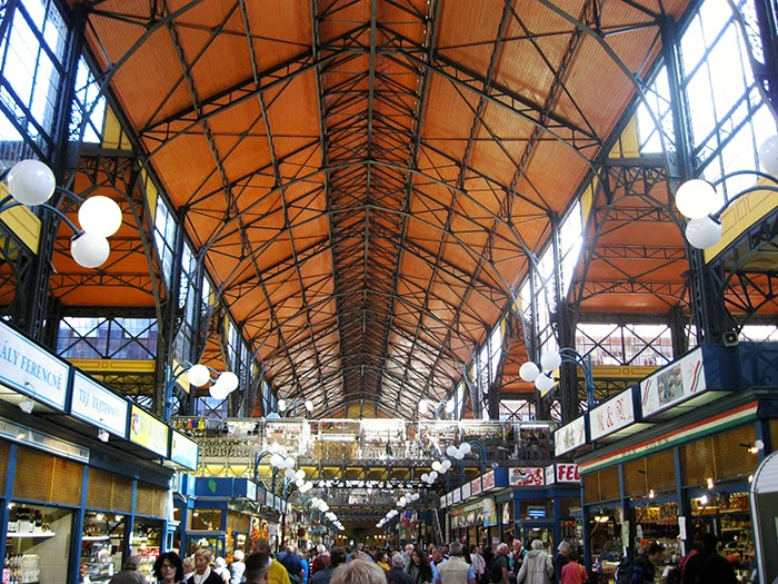 Budapest central market hall gustav eiffel Boedapest centrale markt