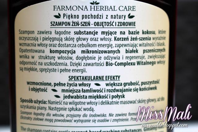 Farmona Herbal Care szampon żeń-szeń