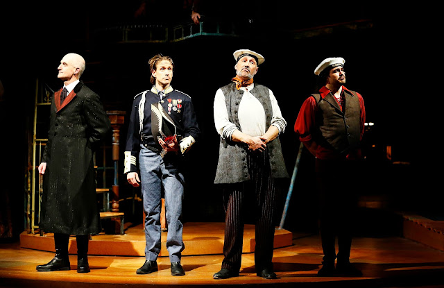 Left to Right: Ray Dooley as Lord Aster, Schuyler Scott Mastain as Captain Scott, Jeffrey Blair Cornell as Alf, and Mitchell Jarvis as Black Stache. Photo by Jon Gardiner.
