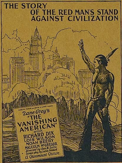 Rare! Zane Grey's The Vanishing American (1925) Richard Dix, Lois Wilson, Noah Beery